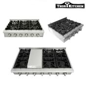 Thor Kitchen 4 6 Burners Propane Stove 30 36 48 Inch Rangetop Stainless Steel