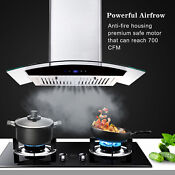 30 Under Cabinet Range Hood 350 Cfm 3 Speed Exhaust Fan Kitchen Over Stove Vent