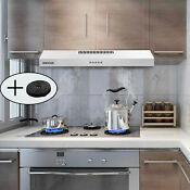 30 Inch Under Cabinet Range Hood Slim Kitchen Over Stove Vent 3speed Exhaust Fan