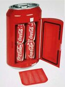 Coca Cola Mini Can Fridge Refrigerator Coke Collectable Cooler 12vdc Or 110ac