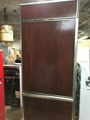 Stainless Steel Wood Face Ge Fridge