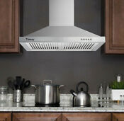 30 Wall Mount Range Hood Stainless Steel Kitchen Over Stove Vent W Leds 330cfm