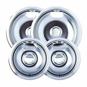 4 Electric Stove Replacement Drip Pans Set Bowls Burner Frigidaire Whirlpool New