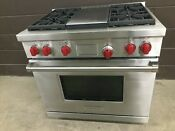Wolf Df364g 36 Pro Dual Fuel Range Stove 4 Burners Griddle