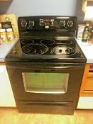 Maytag Stove Top Oven Black Broil Self Clean Smooth Flat Top W Warming Center