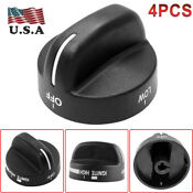 4pcs Replacement Oven Gas Stove Range Knob Fit Whirlpool Sears Ap3085376