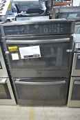Ge Pt7550blts 30 Black Stainless Double Electric Wall Oven Nob 28780 Mad