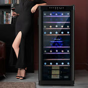 48 Bottles Wine Cellar Fridge Thermoelectric Cooler Chiller Led Refrigerator