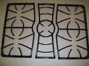 Used Frigidaire Gallery Gas Stove Continuous Cast Iron Burner Grates