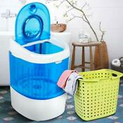 Portable Washing Machine Compact Semi Automatic Mini Washer Spinner Laundry Blue
