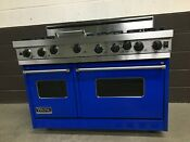 Viking 48 Professional Range Vgic485 6g Gas 6 Burners Griddle Blue Finish