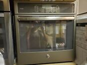 Ge Profile Pk7000ejes 27 Single Electric Wall Oven In Slate