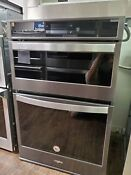 Whirlpool Woc75ec7hv 27 Black Stainless Electric Microwave Wall Oven Combo