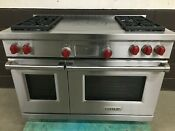 Wolf Df484f 48 Professional Dual Fuel Range 4 Burners French Top