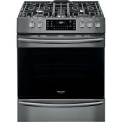 Frigidaire Black Stainless 30 Gas Front Control Freestanding Range Fggh3047vd