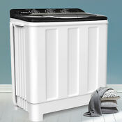 Compact Washing Machine Twin Tub Portable Washer Spinner Laundry Dryer 24lbs