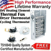 279838 Dryer Heating Element Thermal Fuse Thermostat For Whirlpool Roper Kenmore