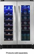 Insignia 42 Bottle Or 114 Can Built In Dual Zone Wine And Beverage Cooler
