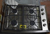 Ge Monogram Zgu384nsmss 30 Stainless Gas 4 Burner Cooktop 30198 Mad