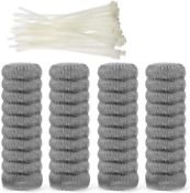 40 Pieces Lint Traps Stainless Steel Never Rust Washing Machine Lint Snare Tra