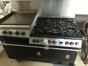 Local Pickup Vintage Wolf Gas 60 Range 6 Burner Stove Baking Oven Ch 6 1829 Hb