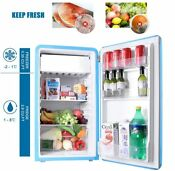 Retro Style Top Freezer Refrigerator With 3 2 Cu Ft Compact Adjustable Glass