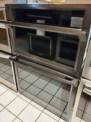 Samsung 30 Self Cleaning Convection Microwave Wall Oven Combo Nq70m6650dg