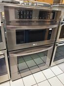 Lg 30 Microwave Convection Wall Oven Combo Lwc3063bd Black Stainless Steel