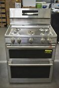 Ge Cafe Cgb550p2ms1 30 Stainless Double Oven Gas Range 91134 Hrt