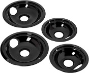 Stove Drip Pans Set Electric Burners Parts Frigidaire Top 4 Pack Easy To Clean