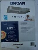 Broan 30 In Convertible Stainless Undercabinet Range Hood New In Box