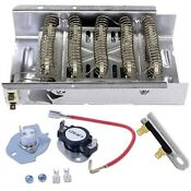 Electric Heating Element 5400 W 240 V Thermostat Kit Compatible Whirlpool Dryer