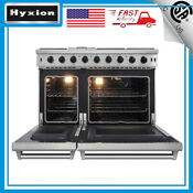 48 Gas Range 6 Cooktop Burner Griddle And 2 Oven Commercial Convection Fan Usa