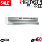 30 In Under Cabinet Range Hood Stainless Steel Non Vented Ductless Kitchen New