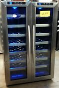 Whynter 32 Bottle Dual Zone Freestanding Wine Cooler Wc 321dd Wc107