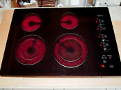 Ge Profile Series Model Jp939b0h1bb 30 Electric Touch Control Cooktop Black