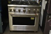 Ge Cafe Cgy366p2ms1 36 Stainless Professional Natural Gas Range Nob 85895