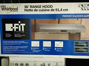 Whirlpool 36 Range Hood With The Fit System
