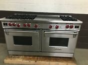 Wolf R606dg Professional All Gas 60 Range Stove 6 Burners Double Griddle