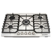 Metawell 30 Stainless Steel 5 Burners Built In Cooktop Lpg Ng Gas Hob Cooker