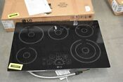 Lg Lce3010sb 30 Black Smoothtop Electric Cooktop Nob 103641