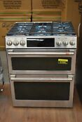 Ge Cafe Cgs750p2ms1 30 Stainless Double Oven Gas Range Nob 91980