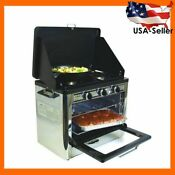 Camp Chef Outdoor Camp Oven With 2 Burner Camping Stove Coven For Camping Bbq