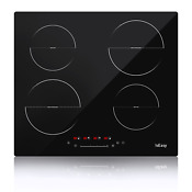30 Built In Electric Ceramic Hob Cooktop 4 Burners Touch Control Worktop Usa