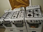 Avanti 19 5 Gas Range White Delivery 5 Borough Only Or Local Pickup