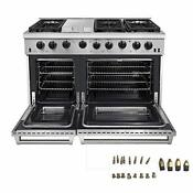 Thor Kitchen 48 Inch Freestanding Pro Style Double Oven Professional Gas Range