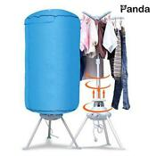 Electric Portable Clothes Dryer Ventless Foldable Drying Machine W Heater