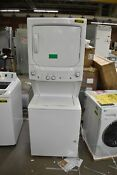 Ge Spacemaker Gud27essmww 27 White Electric Laundry Center Nob 108528