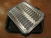 Oven Broiler Rack Pan 2 Piece 16 1 2 X 13 Porcelain Enamel Stainless Grill