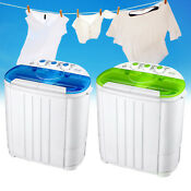 Woow Compact Portable Washing Machine Twin Tub Washer Dryer 1 05 Cu Ft 16 Lbs